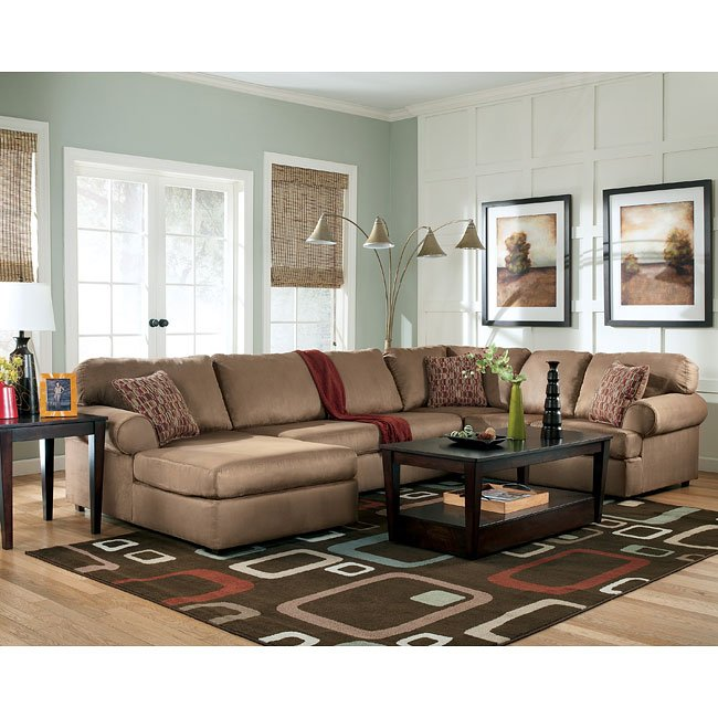 Aveline - Cocoa Sectional Living Room Set Signature Design ...