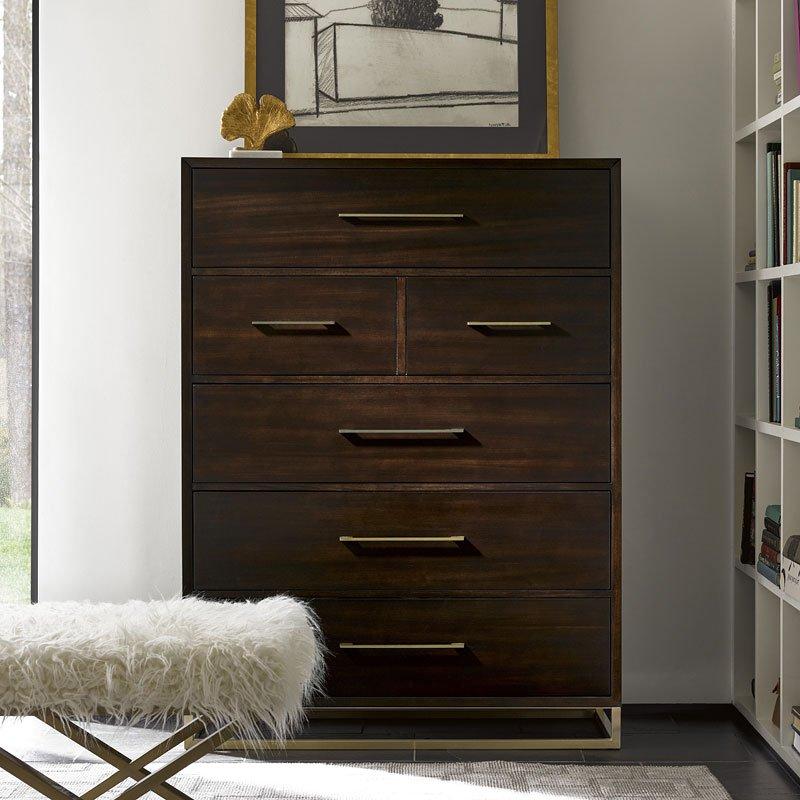 Modern bancroft drawer chest mahogany universal - Mahogany bedroom furniture contemporary ...