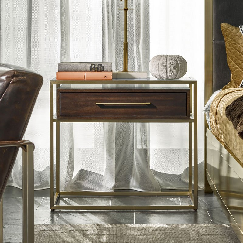 Modern bancroft nightstand mahogany universal furniture - Mahogany bedroom furniture contemporary ...