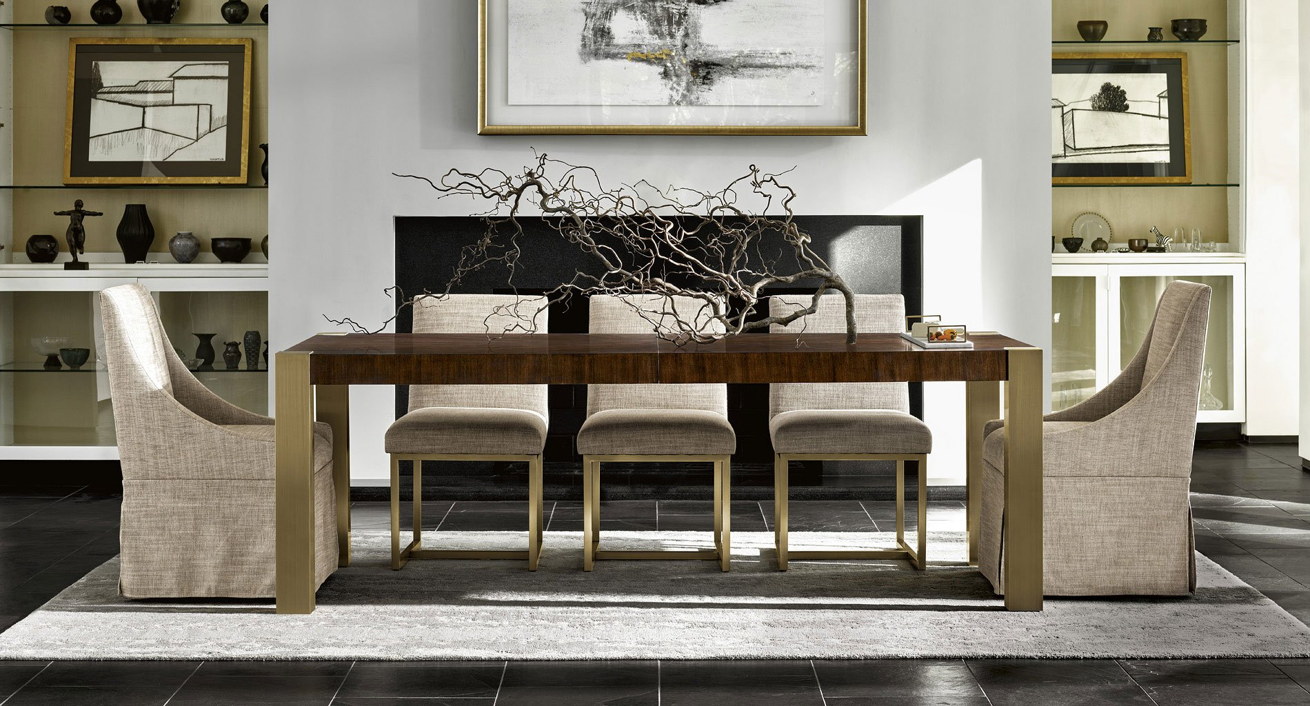 Ordinaire Modern Gibson Rectangular Dining Room Set (Mahogany)