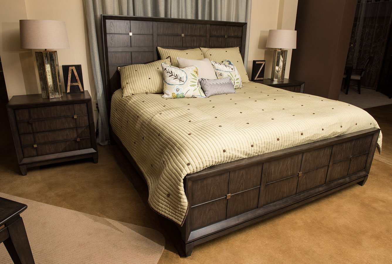 regency panel bedroom set klaussner furniture cart
