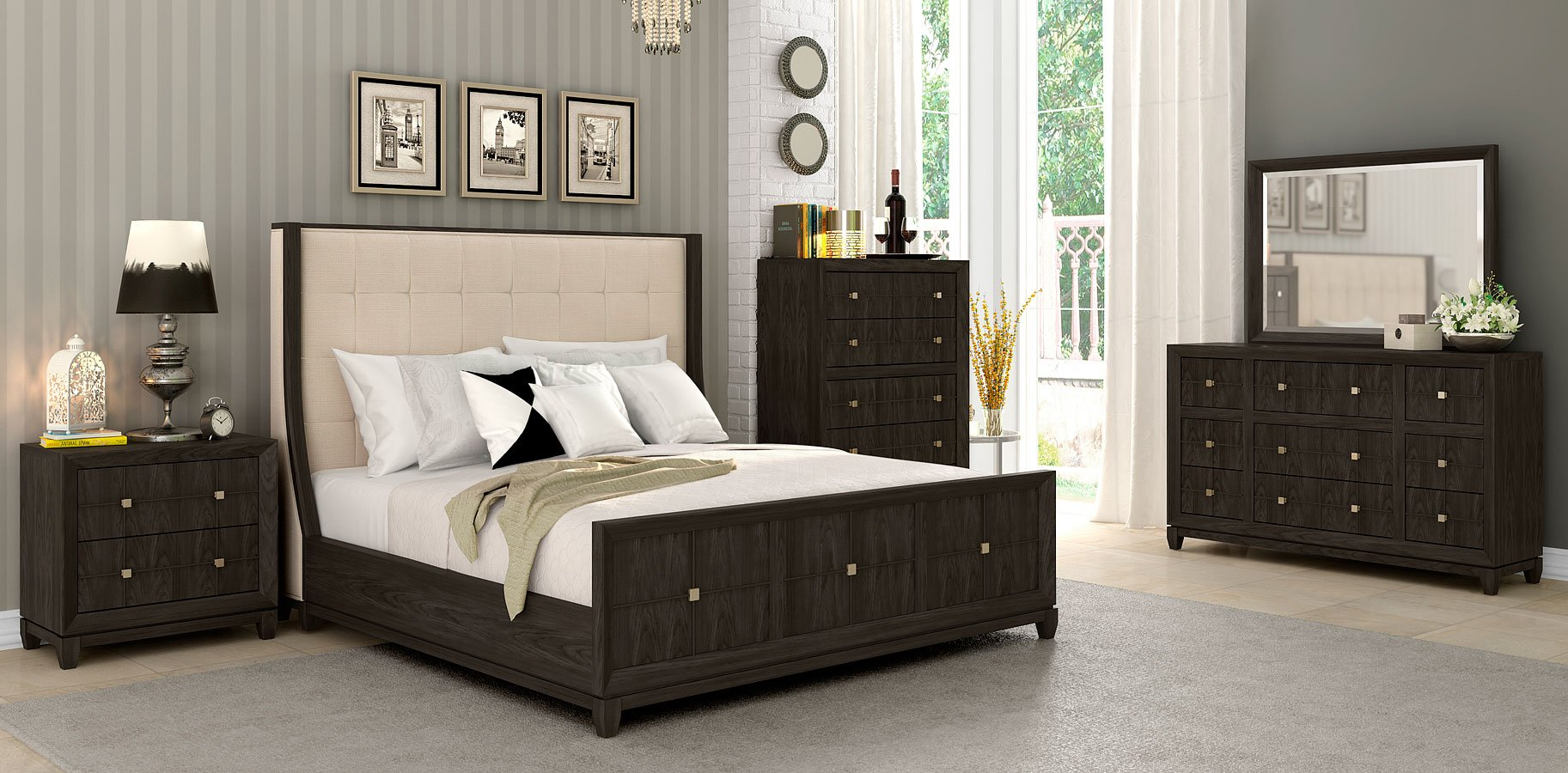 Regency Upholstered Bedroom Set Klaussner Furniture Cart