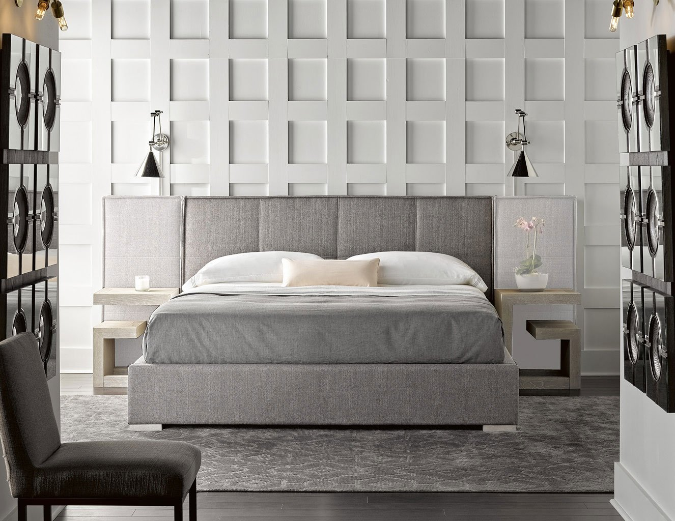 Modern Connery Upholstered Bedroom Set Flint