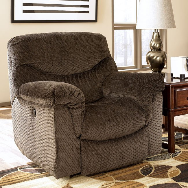 Dreamweaver - Chocolate Rocker Recliner