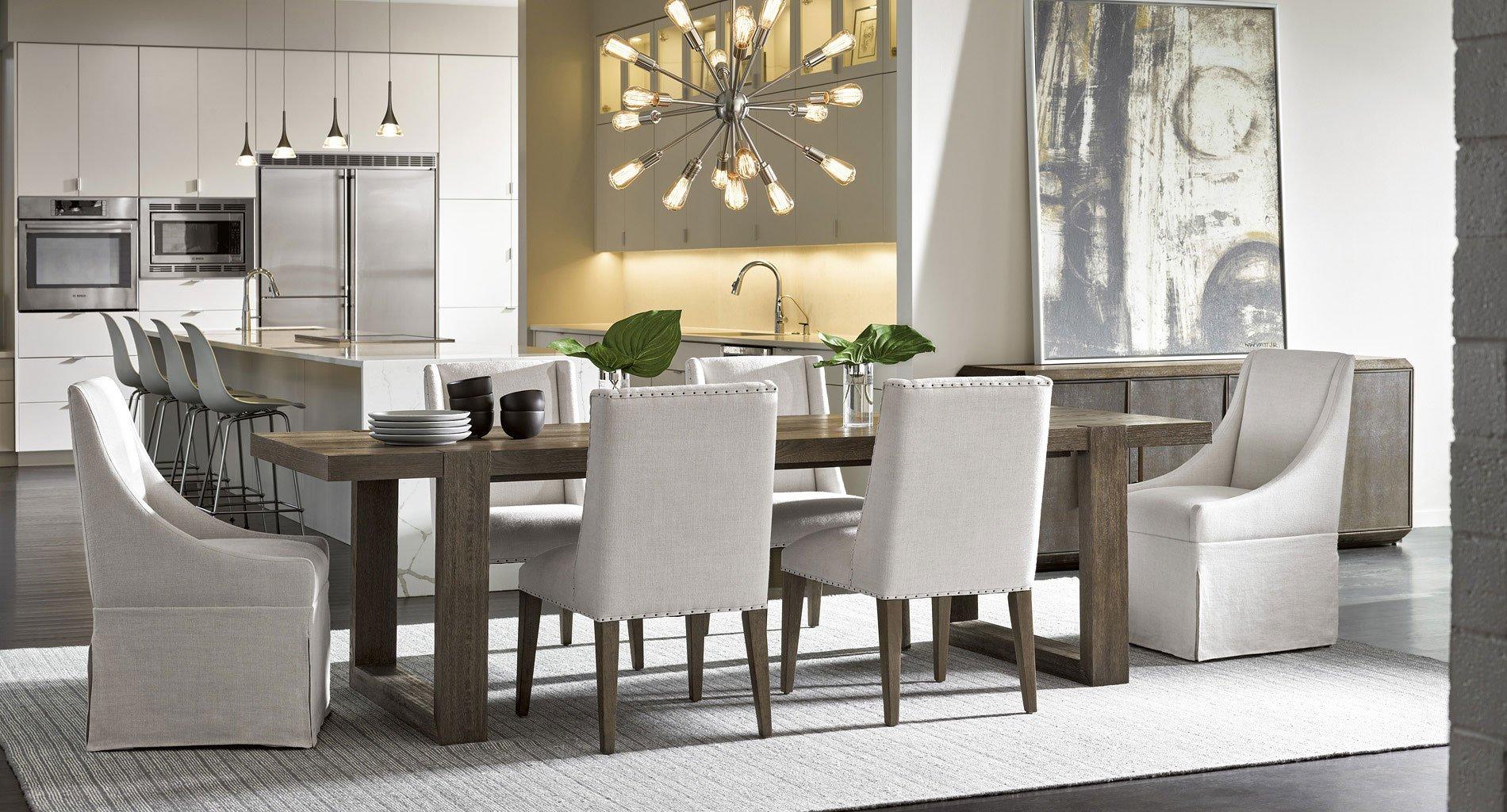 Flint Office Furniture: Modern Desmond Dining Room Set (Portobello) W/ Flint Chair