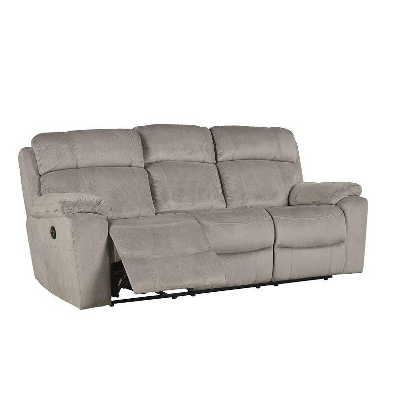 Uhland Granite Power Reclining Sofa W Adjustable