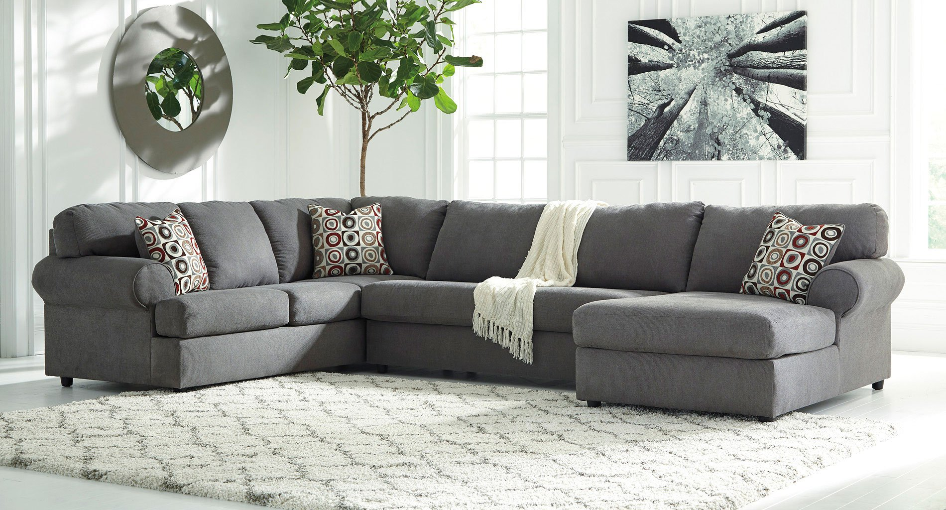 Jayceon Steel Right Chaise Sectional