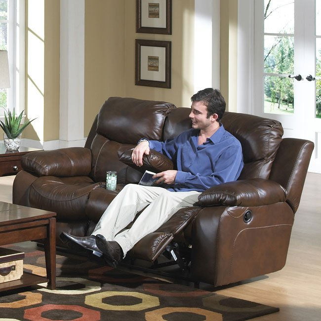 Wondrous Dallas Power Reclining Loveseat W Console Ocoug Best Dining Table And Chair Ideas Images Ocougorg