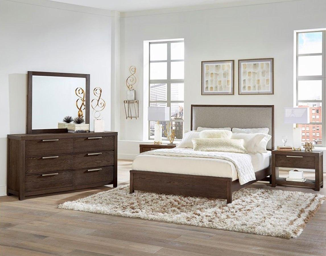 Awe Inspiring American Modern Upholstered Low Profile Bedroom Set Mocha Download Free Architecture Designs Itiscsunscenecom