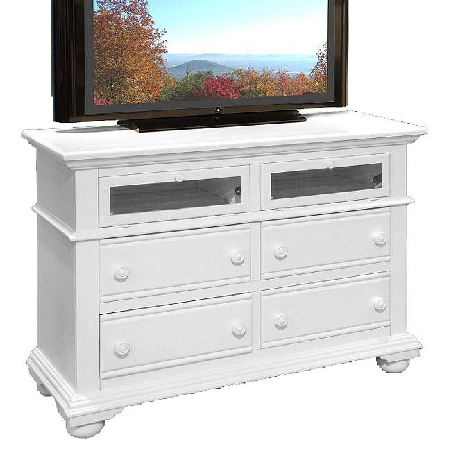 Cottage Traditions Entertainment Dresser White American