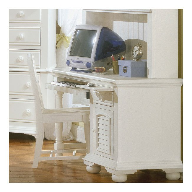 Cottage Traditions Computer Desk White American