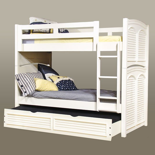 Cottage Traditions Twin Twin Bunk Bed White American