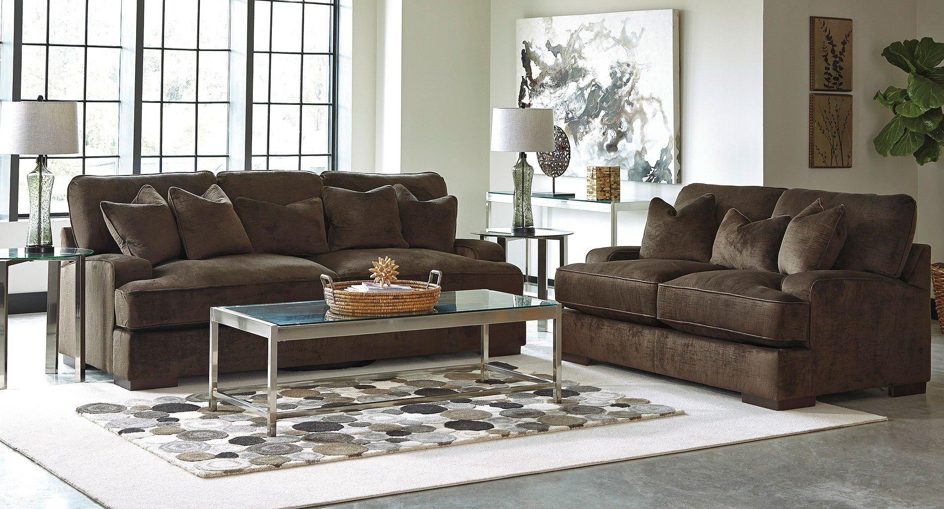 bisenti chocolate living room set benchcraft furniture cart rh furniturecart com chocolate brown living room set vacherie chocolate reclining living room set