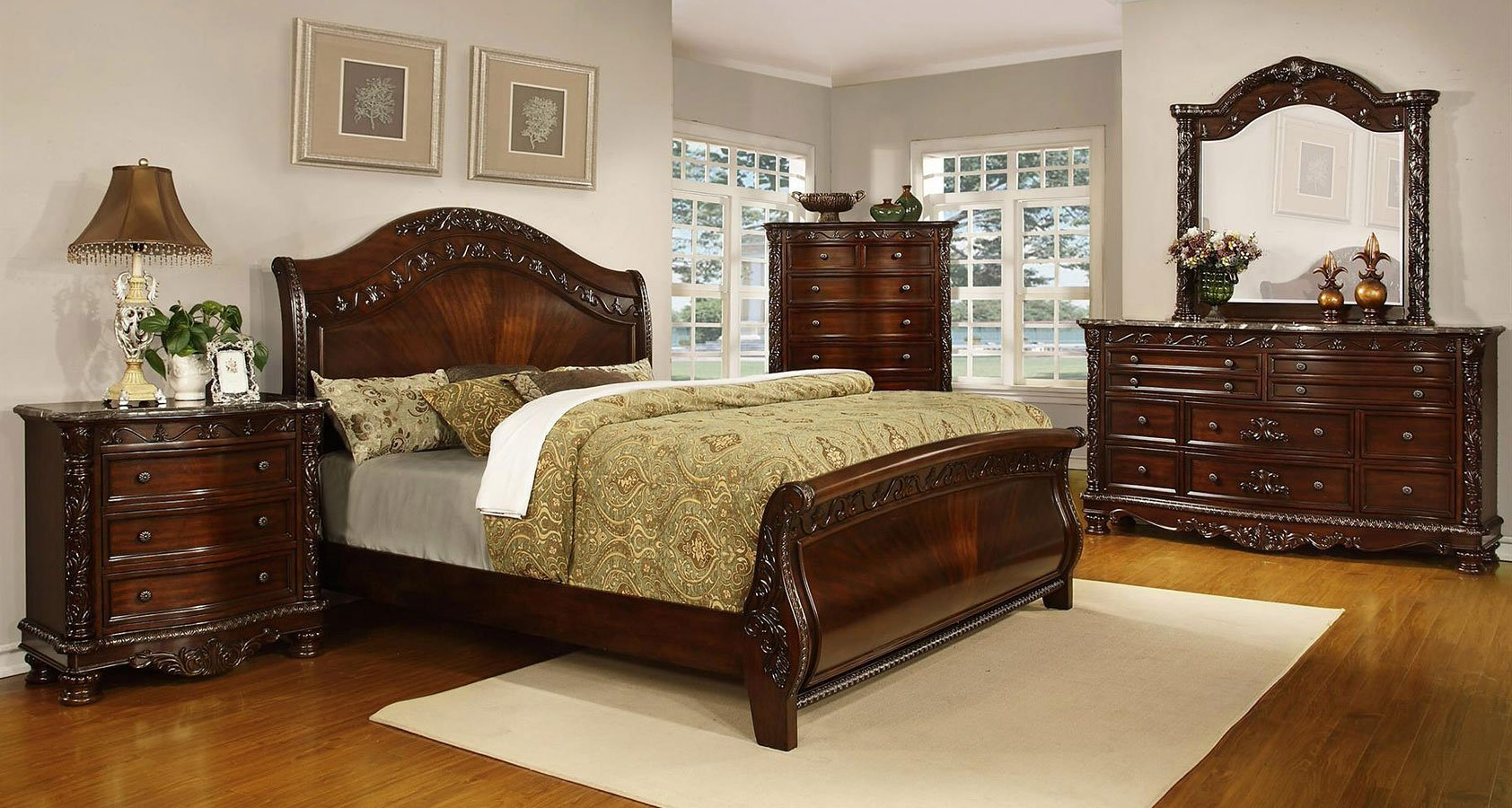 Cool Sleigh Bedroom Sets Interior