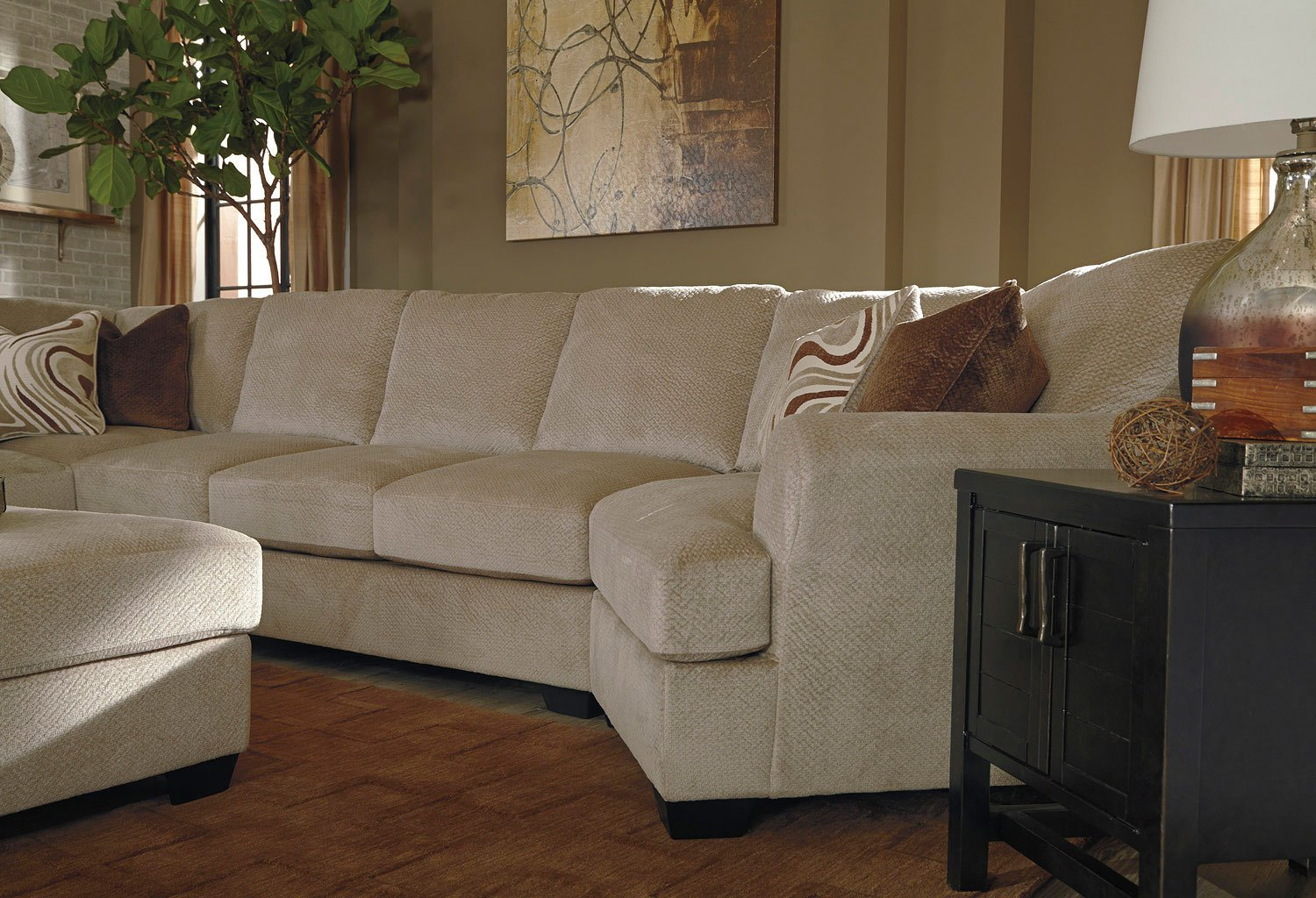 Hazes Fleece Modular Sectional W/ Cuddler