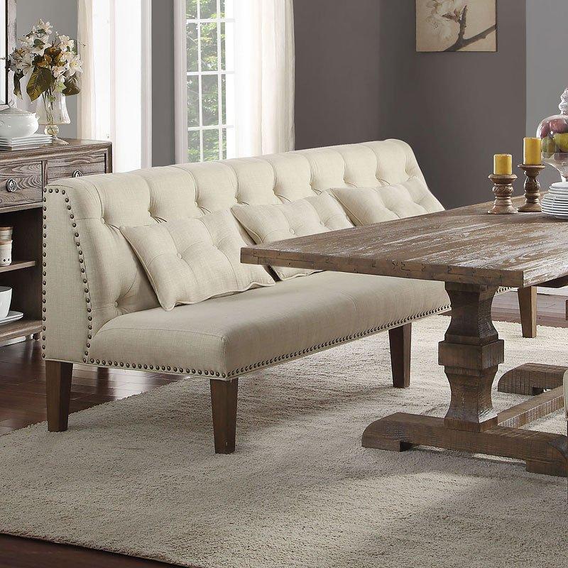 Inverness Banquette Bench Acme Furniture | Furniture Cart