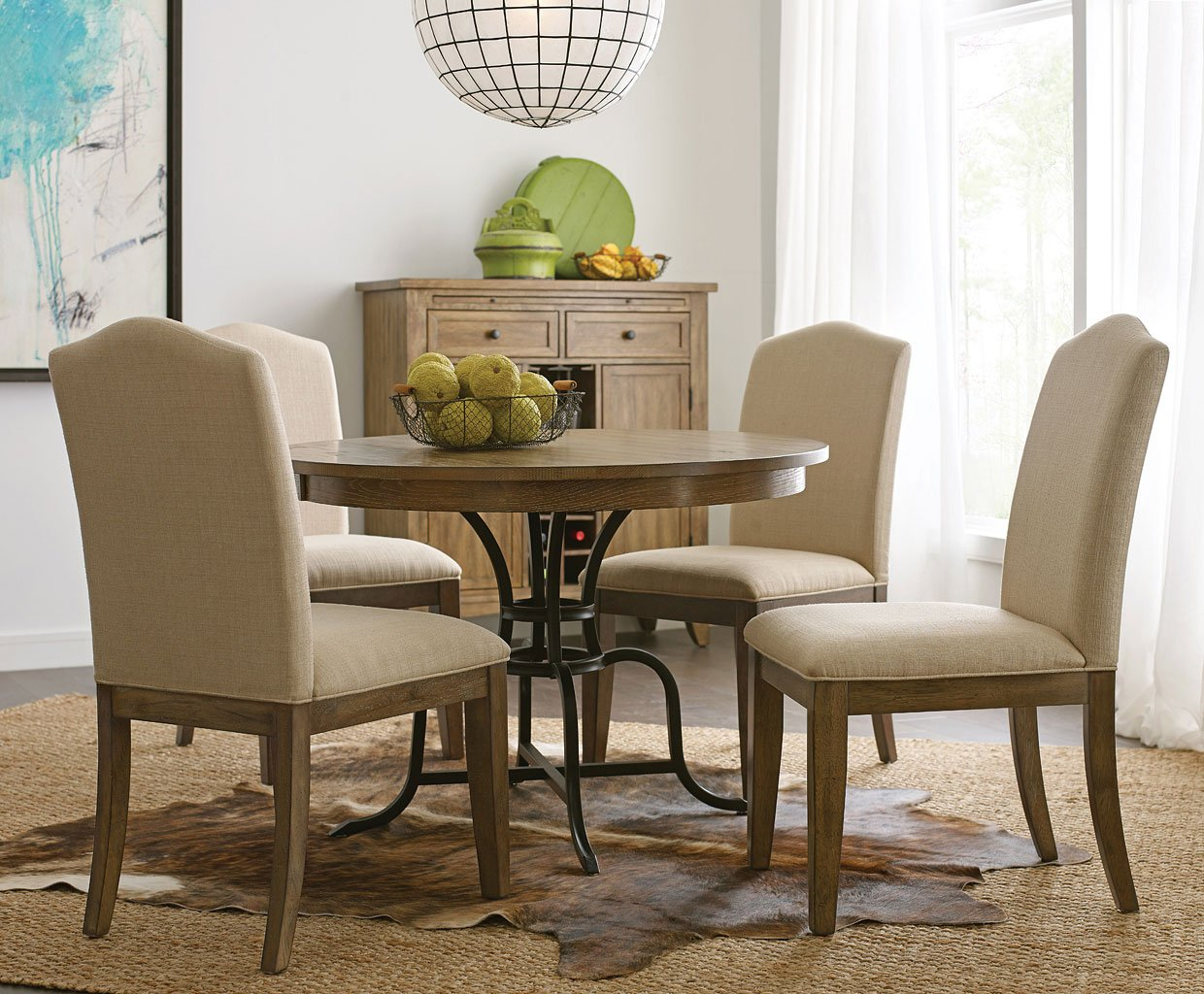 The Nook Inch Round Metal Dining Room Set Oak Kincaid Furniture - 54 inch round dining room table