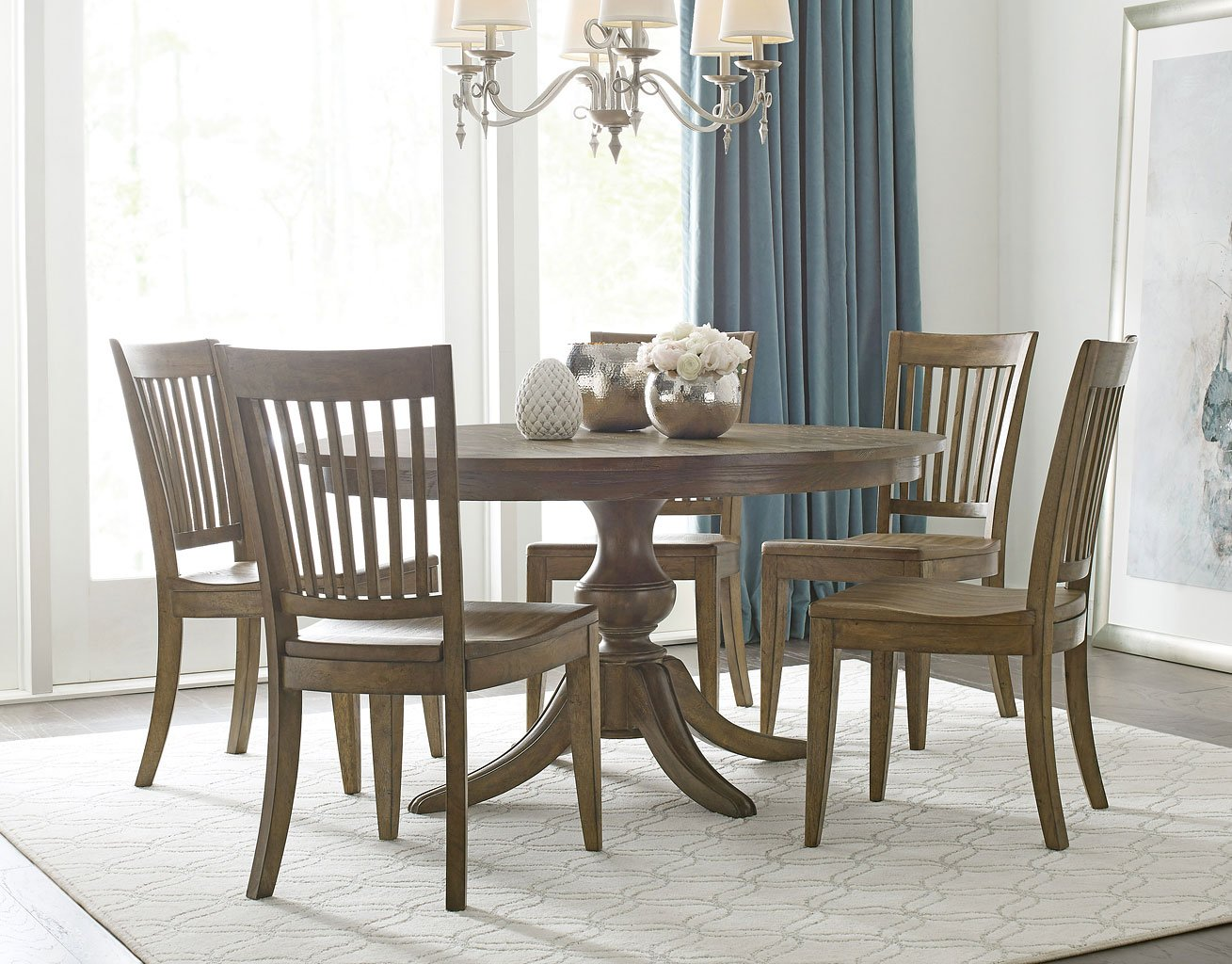 The Nook Inch Round Dining Room Set Oak Kincaid Furniture - 54 inch round dining room table