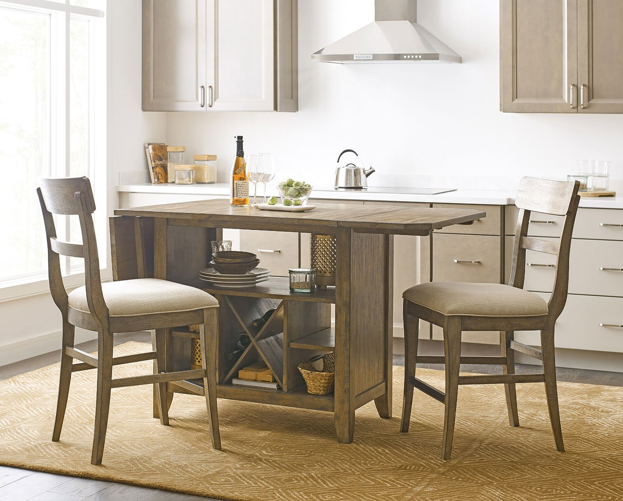 The Nook Kitchen Island Set (Oak)