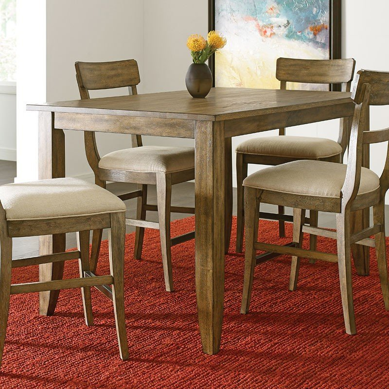 The Nook 60 Inch Counter Height Dining Room Set Oak