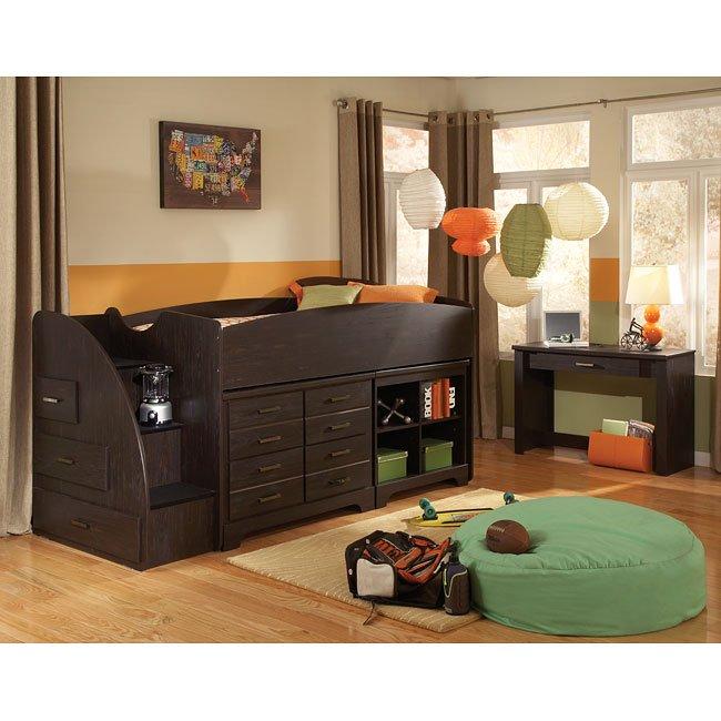 Hideout Bedroom Set W Loft Bed Standard Furniture Furniture Cart