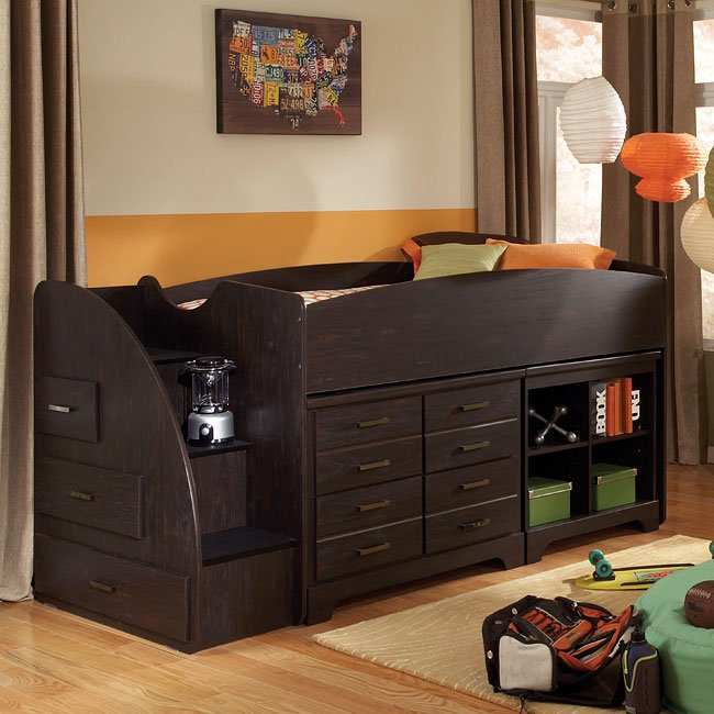 Hideout Loft Bed W Left Stairs Standard Furniture Furniture Cart