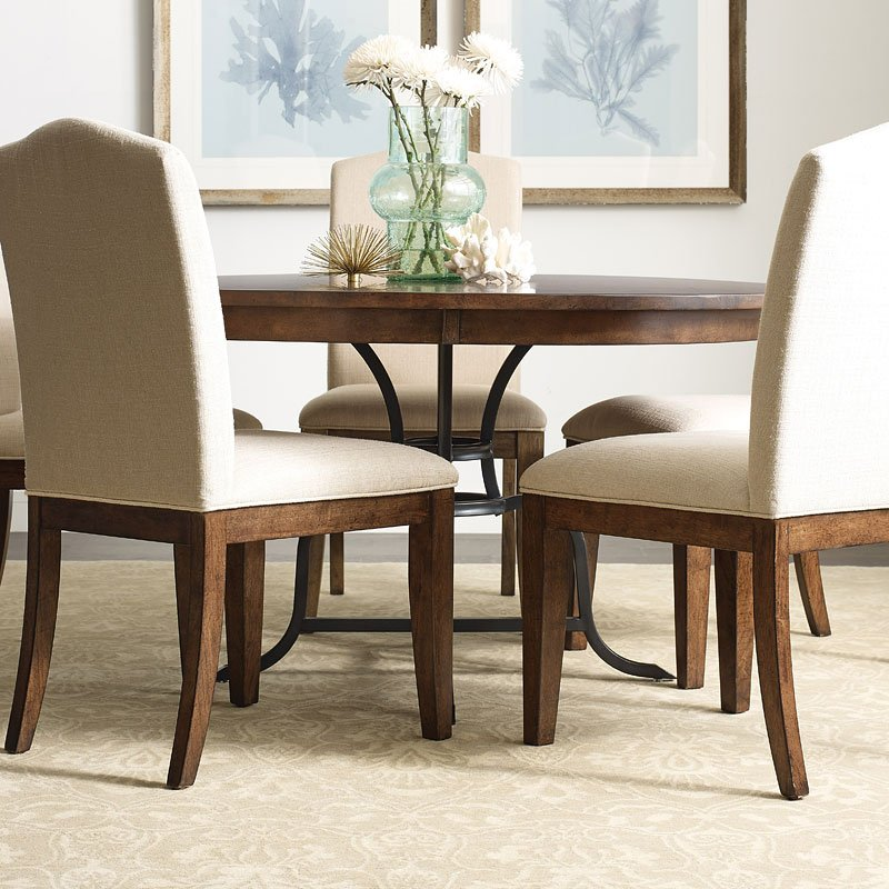The Nook 54 Inch Round Metal Dining Table (Maple) Kincaid ...