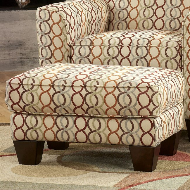 Figure Eight - Candy Accent Ottoman