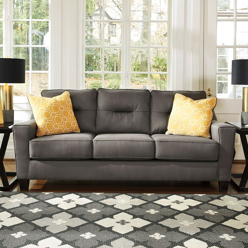 Ashley Furniture Forsan Nuvella Gray Queen Sofa Sleeper: Forsan Nuvella Gray Sofa Signature Design By Ashley