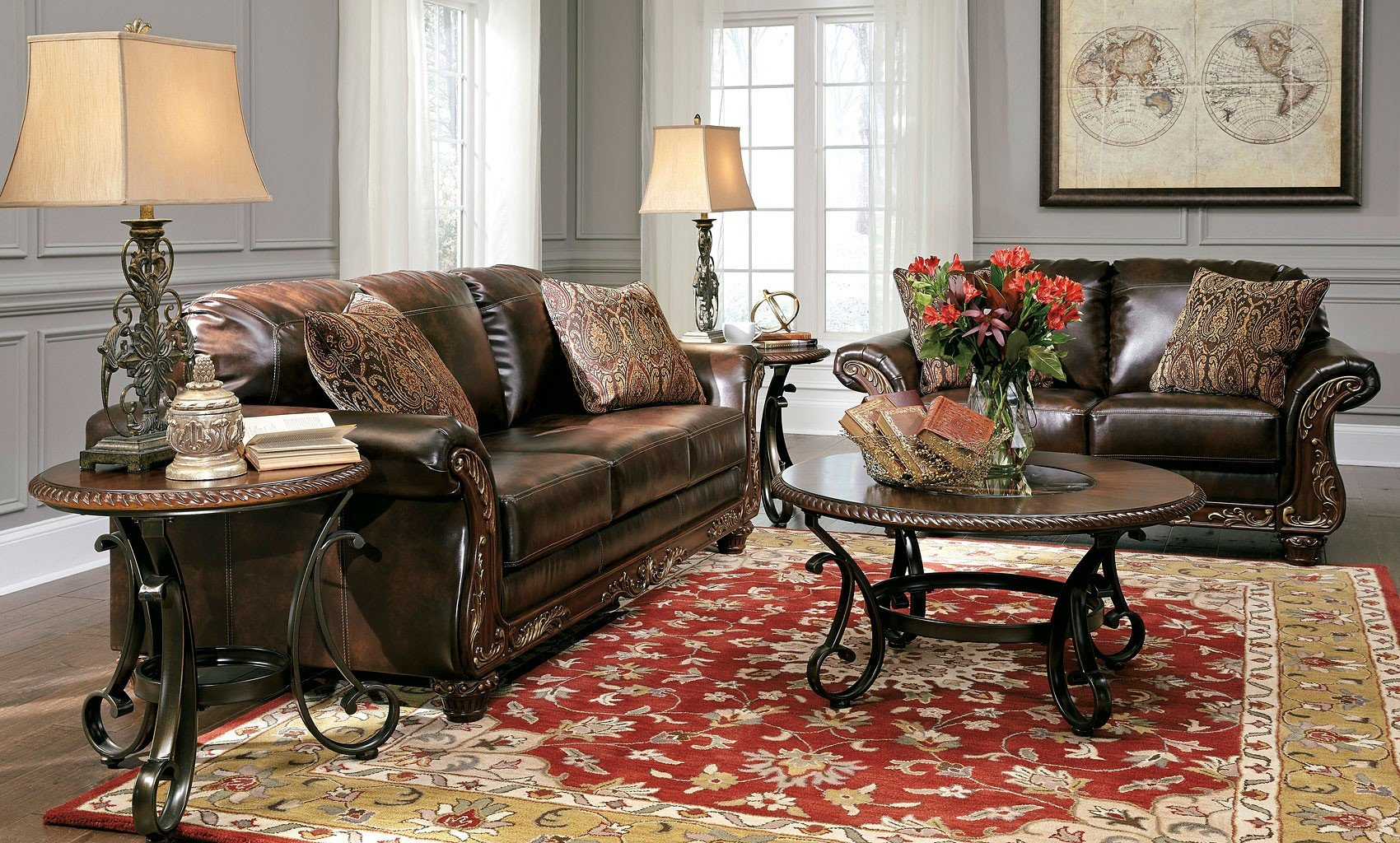 Vanceton Antique Living Room Set Signature Design, 1 Reviews ...