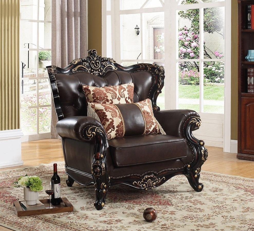 Ashley Furniture Meridian Idaho: Barcelona Living Room Set (Brown) Meridian Furniture
