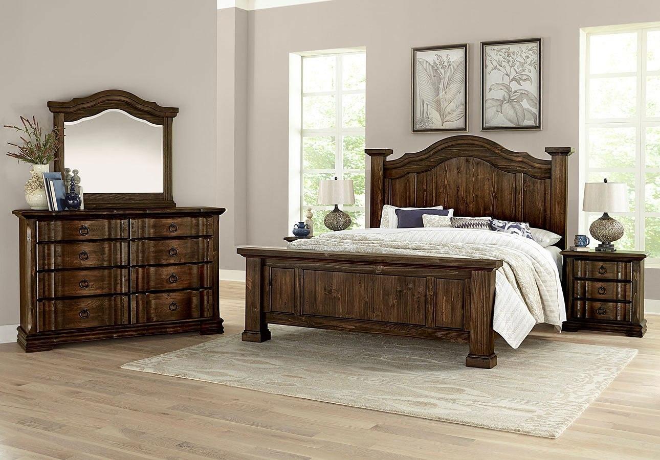 Rustic Hills Poster Bedroom Set (Coffee) Vaughan Bassett