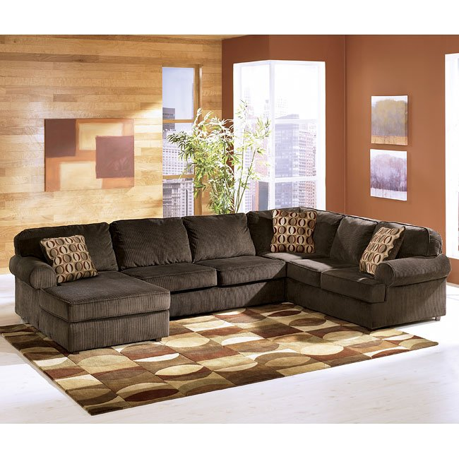 Vista - Chocolate Left Facing Chaise Sectional