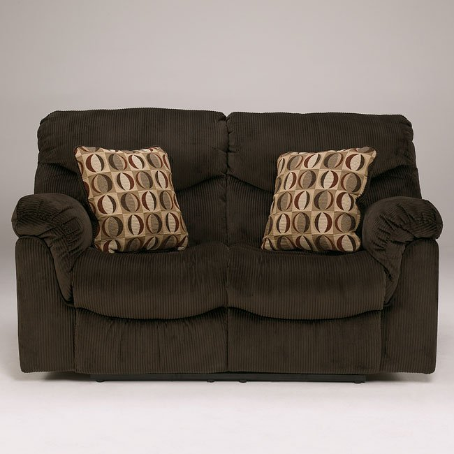 Motivation - Chocolate Reclining Loveseat