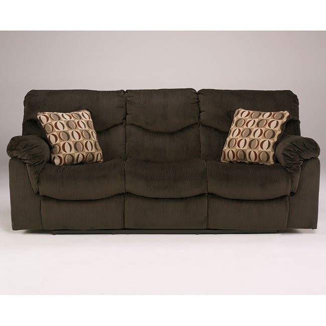 Motivation - Chocolate Reclining Sofa w/ Power