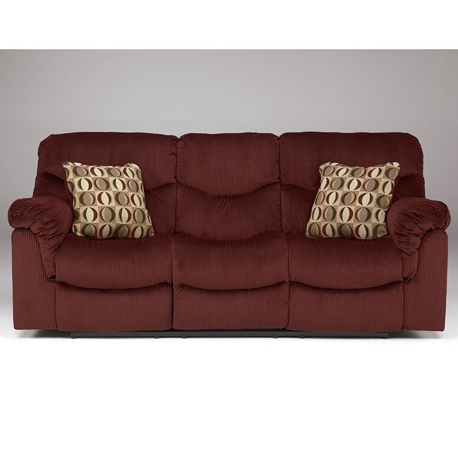 Motivation - Burgundy Reclining Sofa w/ Power