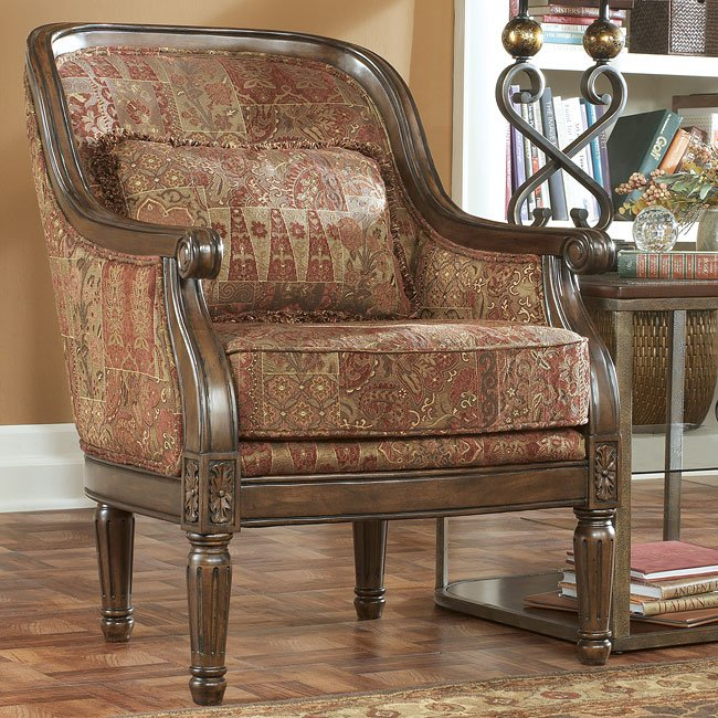 Markam - Spice Showood Accent Chair