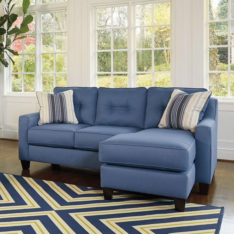 Astounding Aldie Nuvella Blue Sofa Chaise Gmtry Best Dining Table And Chair Ideas Images Gmtryco
