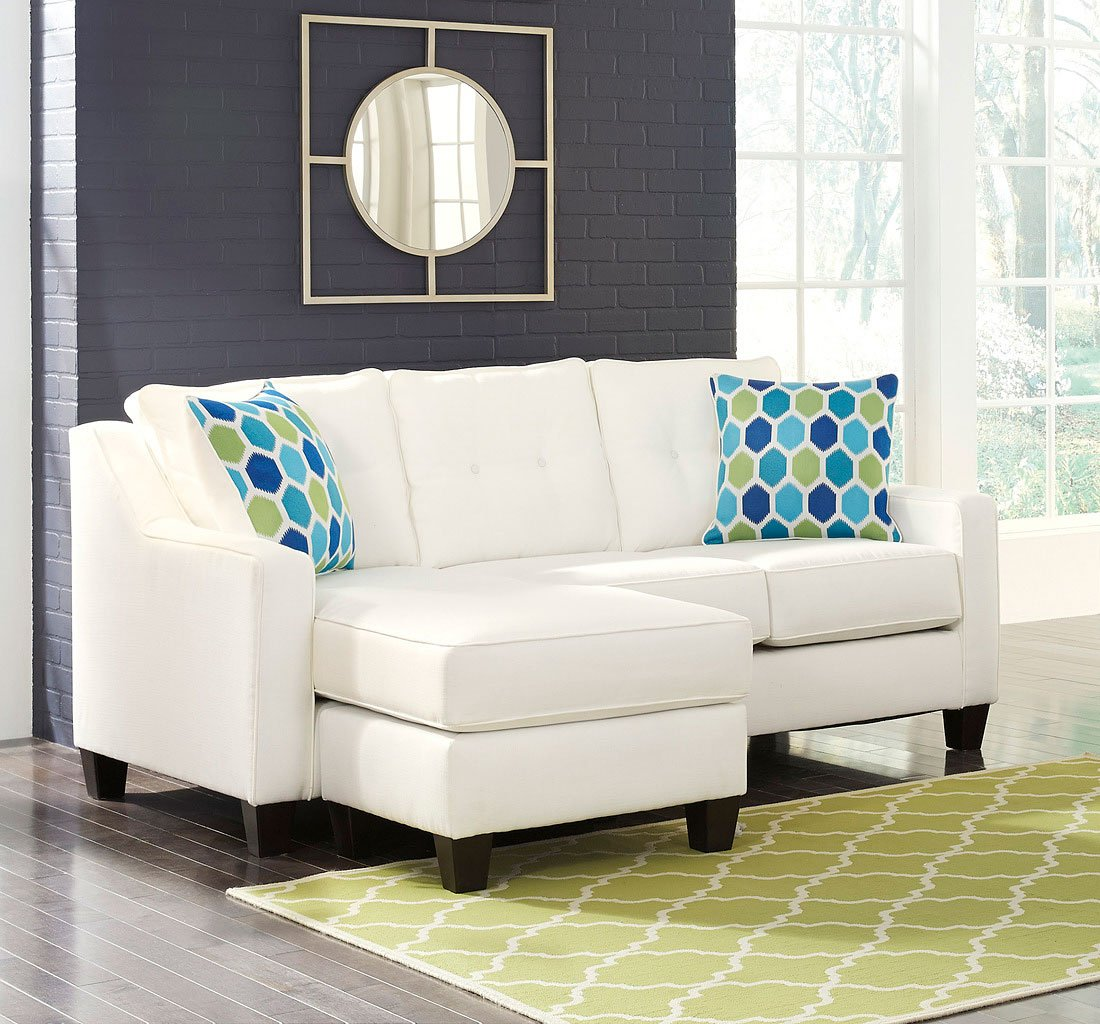 Swell Aldie Nuvella White Sofa Chaise Gmtry Best Dining Table And Chair Ideas Images Gmtryco