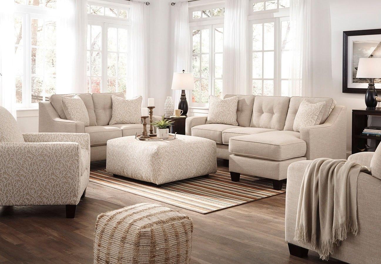 Aldie Nuvella Sand Living Room Set BenchCraft | Furniture Cart