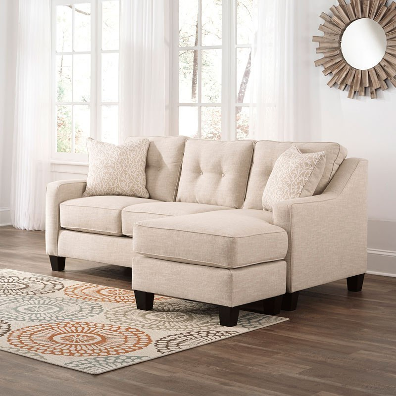 Aldie Nuvella Sand Sofa Chaise Benchcraft Furniture Cart