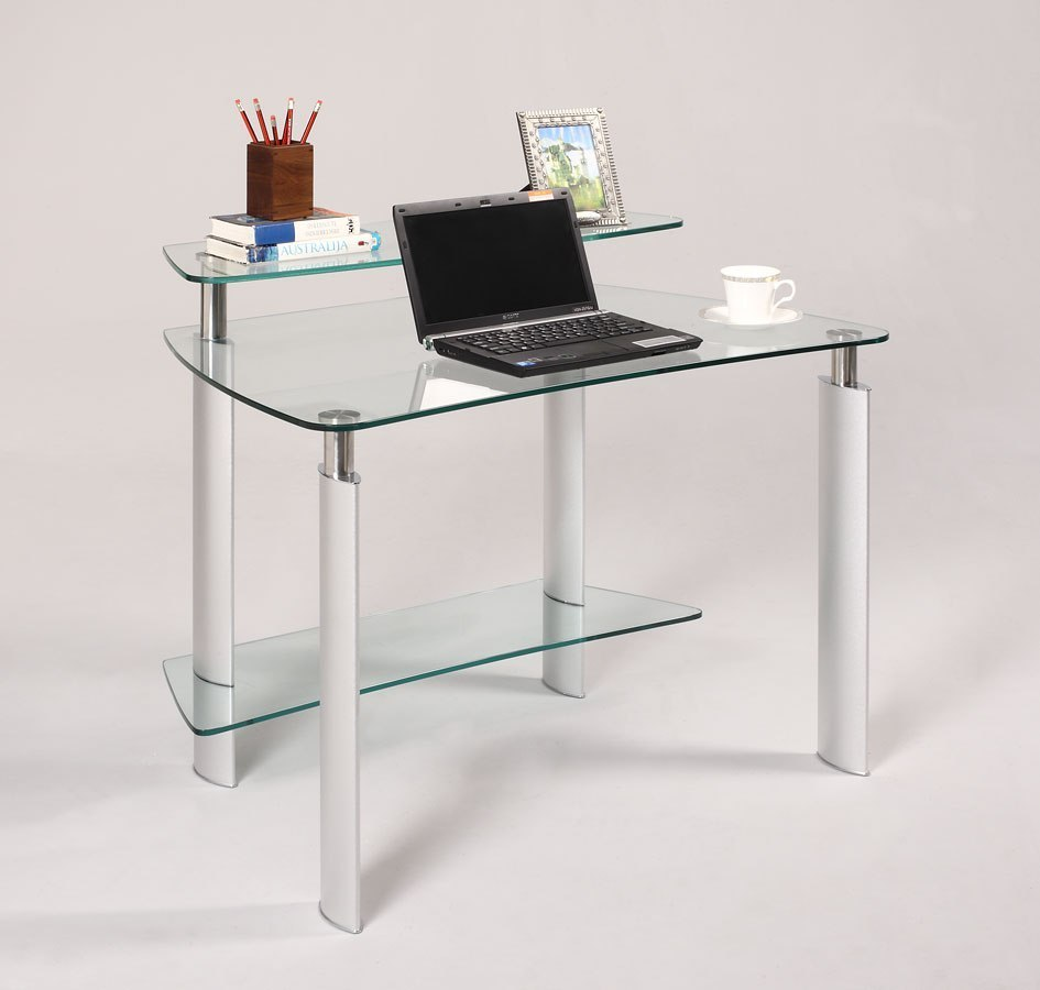timeless design 43bed 6b441 Clear Glass Computer Desk