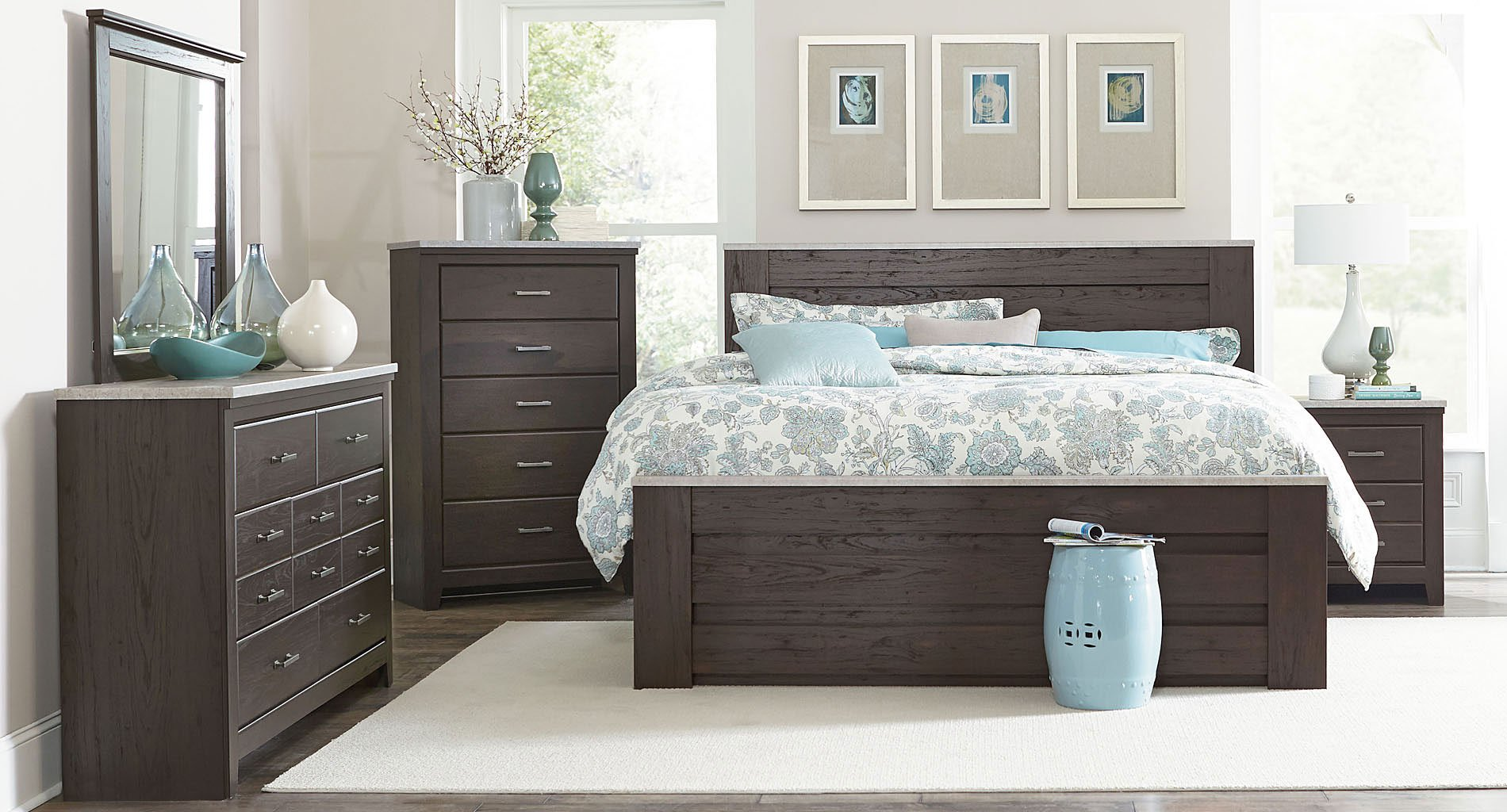 Stonehill Dark Panel Bedroom Set