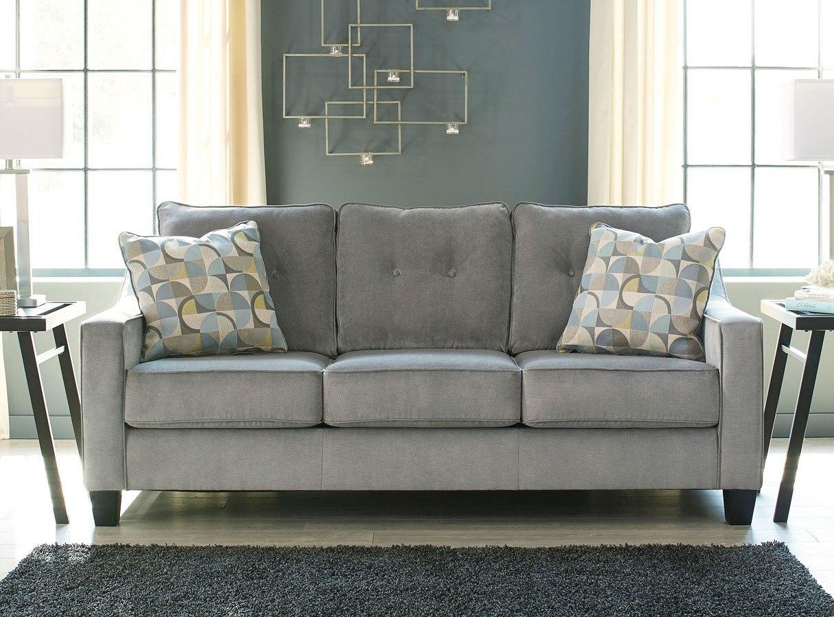 Bizzy Smoke Sofa Benchcraft Furniture Cart