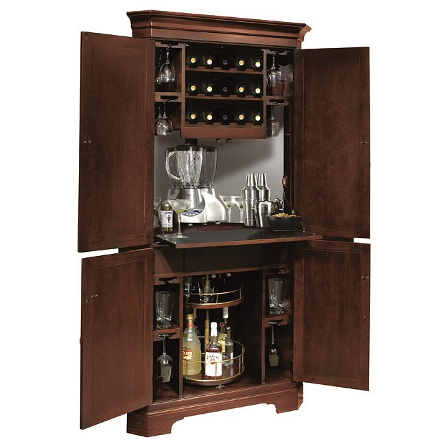 Norcross Corner Wine And Bar Cabinet