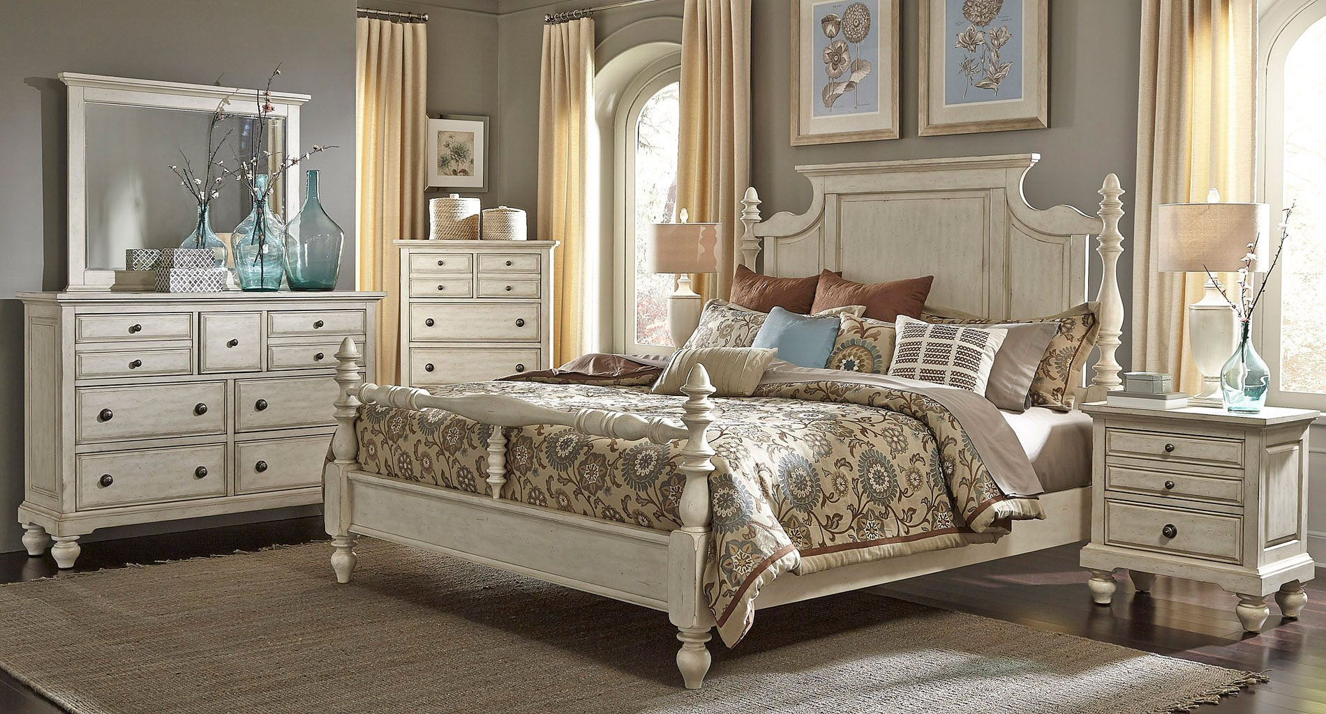 High Country Poster Bedroom Set (White)