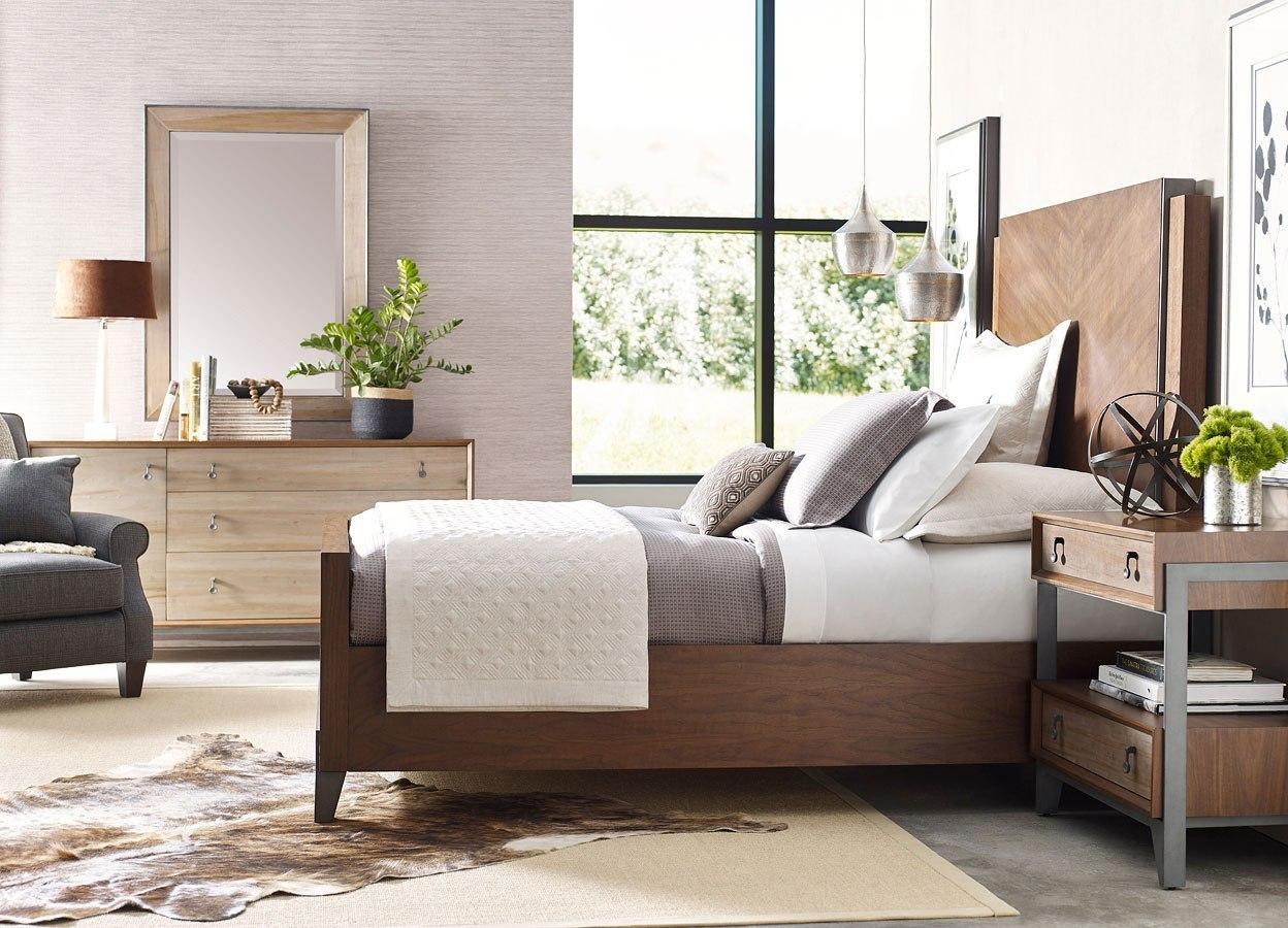 Phenomenal Ad Modern Synergy Chevron Walnut Bedroom Set Download Free Architecture Designs Jebrpmadebymaigaardcom