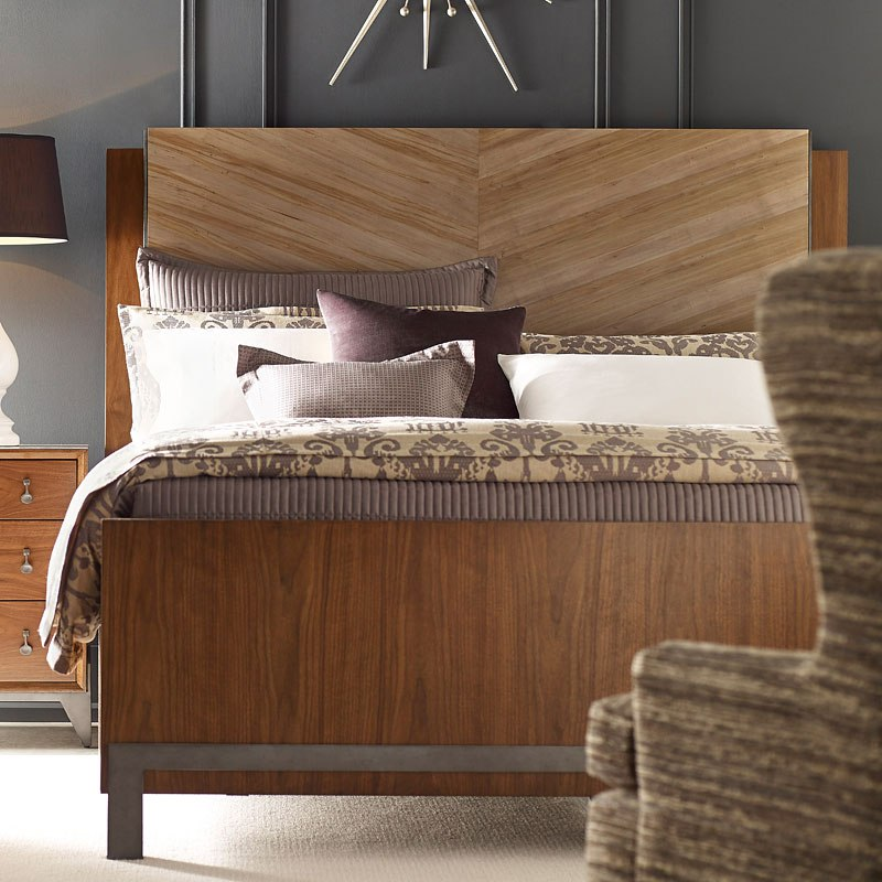 Ad modern synergy chevron maple bed american drew - Contemporary maple bedroom furniture ...