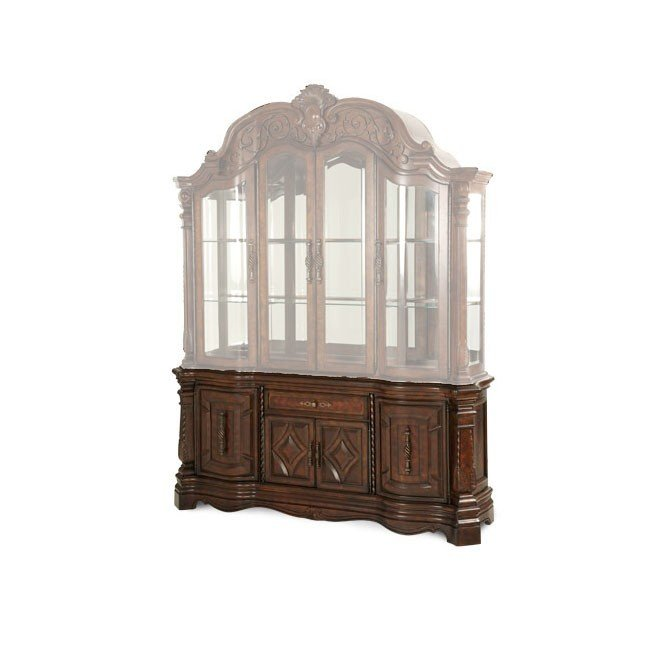 Windsor court round dining room set aico furniture furniture cart for Aico windsor court living room