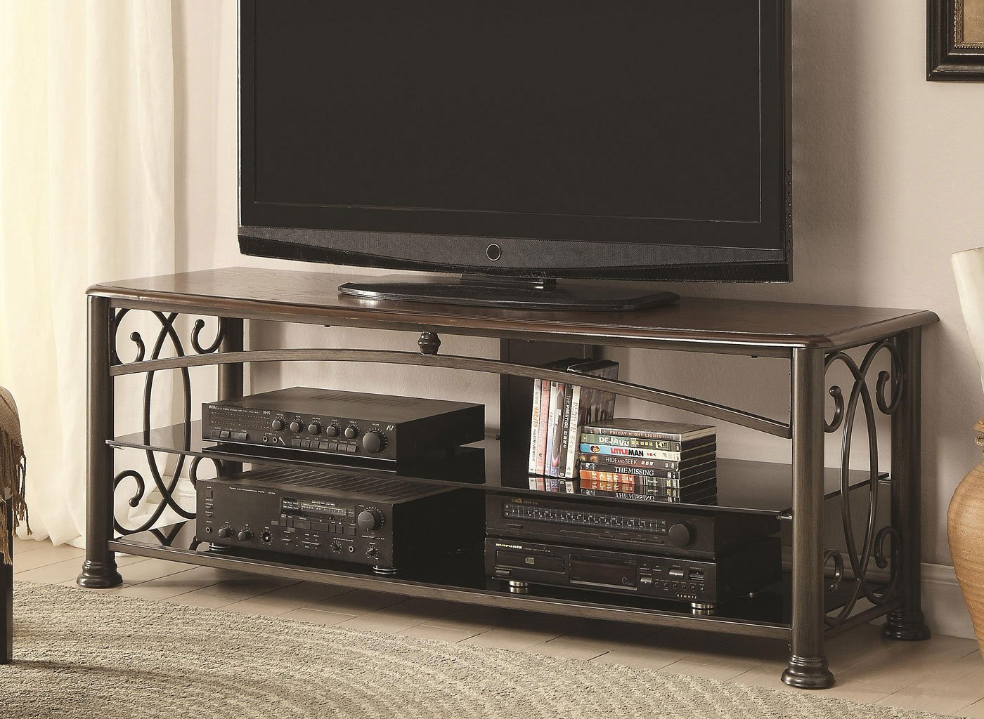 Traditional Tv Stand W Ornaments Coaster Furniture Furniture Cart
